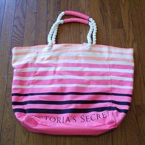 Victoria's Secret Striped Tote Bag